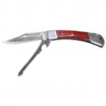 Нож складной «Охотник», металлическая ручка с деревянной вставкой Fox Outdoor
