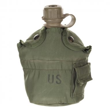 Фляга армии США 1 Qt в чехле, олива, оригинал б/у