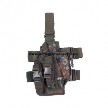 Пистолетная кобура с креплением к ноге flecktarn