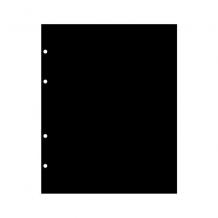 Лист промежуточный черный и белый. Размер 200х250 мм