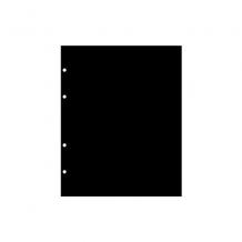 Лист промежуточный черный в альбом для хранения бон стандарта «grand».