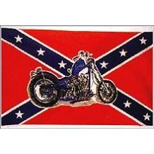 Флаг Конфедерации с мотоциклом