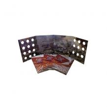 Альбом-планшет для хранения памятных 5 и 10-рублевых монет посвященных 70-летию победы в ВОВ 1941-1945 гг.