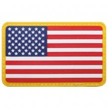 Флаг США велкро (на липучке), 3d, размер: 8 х 5 см