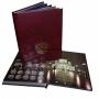 Альбом-книга для хранения памятных 10-руб. биметаллических монет России. стандарт